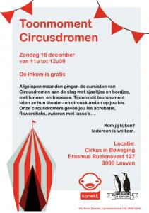 Toonmoment Circusdromen @ Kapelzaal | Leuven | Vlaanderen | België
