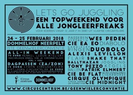 Geenwielerconventie, Let's go Juggling @ Dommelhof Neerpelt | Neerpelt | Vlaanderen | België