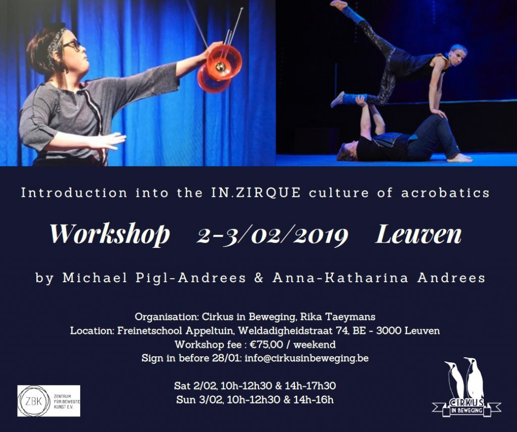 "Workshop ""Introduction into the IN.ZIRQUE culture of acrobatics"" @ Freinetschool Appeltuin 